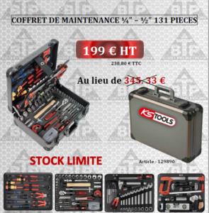 """COFFRET DE MAINTENANCE ¼"""" – ½"""" 131 PIECES"""