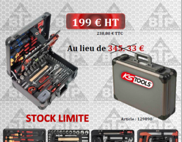"COFFRET DE MAINTENANCE ¼"" – ½"" 131 PIECES"