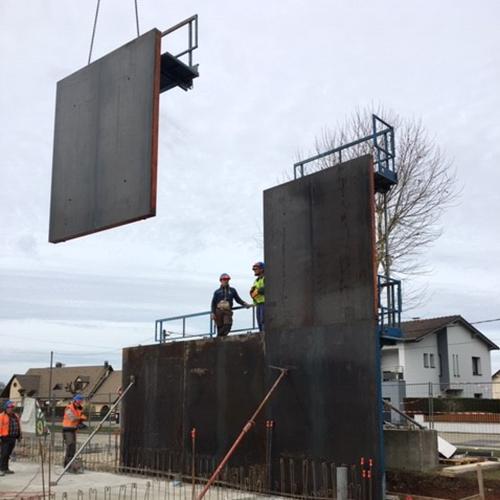 coffrage metallique en construction