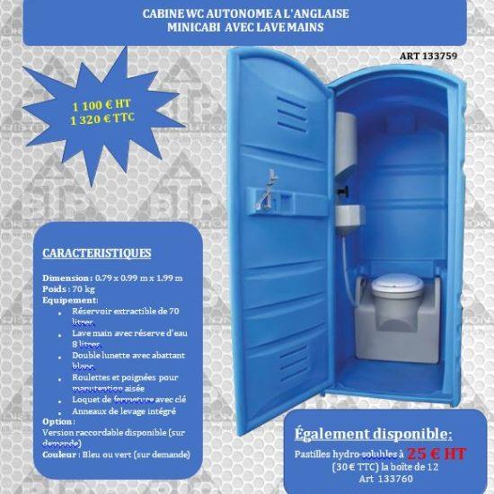 Cabine WC autonome à l'anglaise